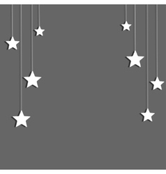 background Stars on a string Eps 10 vector image