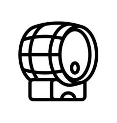 barrel wine wine line icon winery vector image