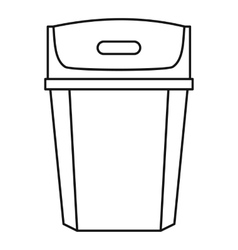 Big trashcan icon outline style vector