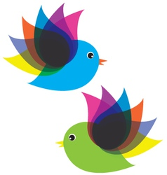 Birds fly vector