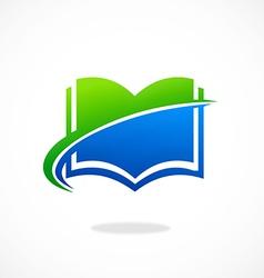 Book icon e abstract logo vector