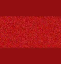 Bright knitted texture on red background vector