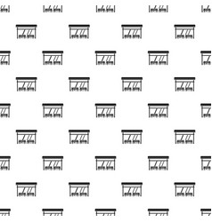 Bus stop pattern vector
