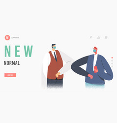 business adapting anding page template vector image