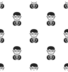 Business man black icon for web and vector