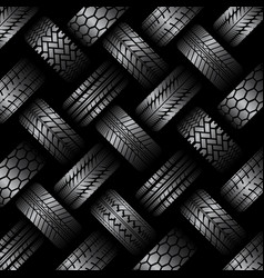Cars tire tracks background vector