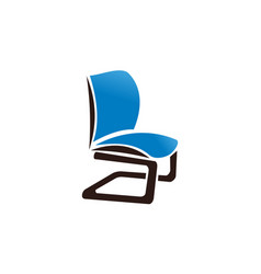 chair logo design template vector image
