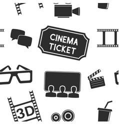 cinema seamless background movie theater symbols vector image