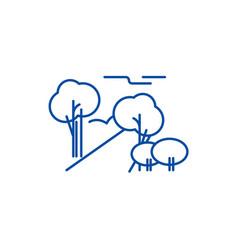 city park line icon concept city park flat vector image