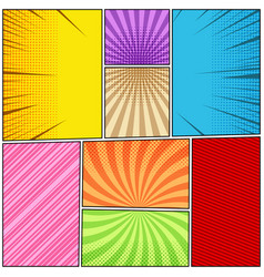 Comic book page colorful composition vector