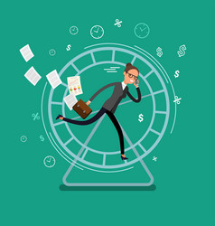 Concept of busy business people vector