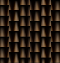 Dark striped geometric seamless pattern vector
