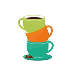 Delicious coffee cup vector