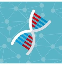 dna molecule structure genetics vector image vector image