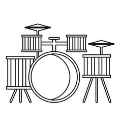 Drums icon outline style vector