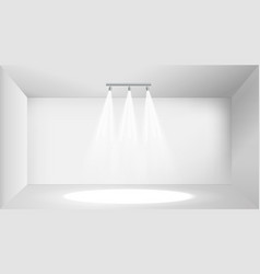 empty white photo studio interior vector image