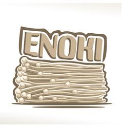enoki mushrooms vector image