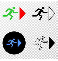 exit person eps icon with contour version vector image