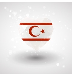 Flag of Northern Cyprus in shape diamond glass vector image