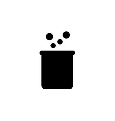 flask icon graphic design template vector image