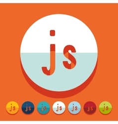 Flat design js vector
