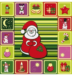 frame christmas pattern vector image