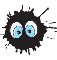 Funny blot with eyes vector