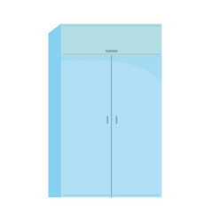 Furniture wardrobe wooden cupboard isolated vector