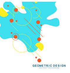 geometric abstract background with geometric vector image