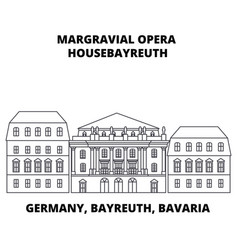 Germany bayreuth bavaria margravial opera vector