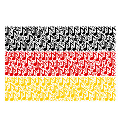 Germany flag collage of musical note items vector