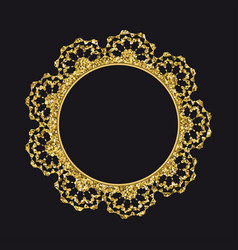 golden glittering round lace vector image