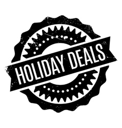 Holiday Deals rubber stamp vector