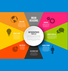 infographic diagram template vector image