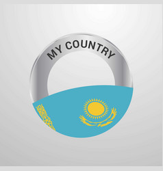 kazakhstan my country flag badge vector image