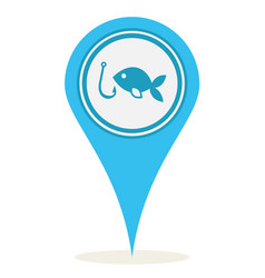 location fishing icon vector image