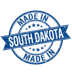 Made in south dakota blue round vintage stamp vector