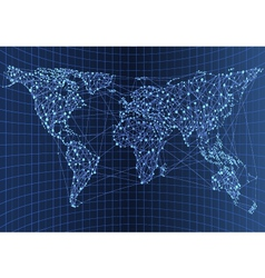 map network vector image