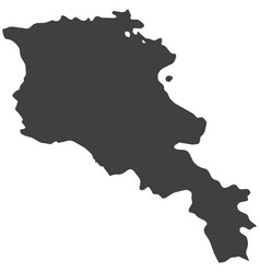 Map of armenia vector