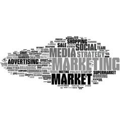 Market word cloud concept vector