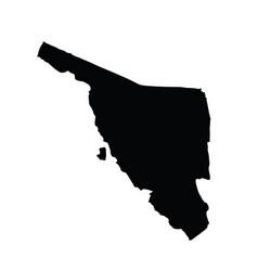 Mexico province map agua prieta sonora map vector