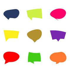 monochrome set with speech bubbles vector image