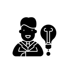 new business idea black icon sign on vector image