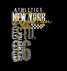 new york typography design united states style vector image