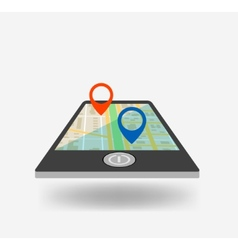 Phone GPS icon vector image