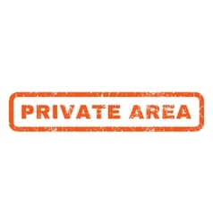 Private Area Rubber Stamp vector image