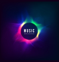 Radial sound wave curve with light particles vector