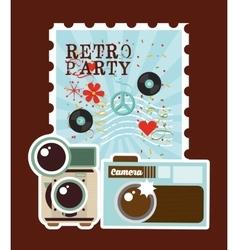 Retro party design vector