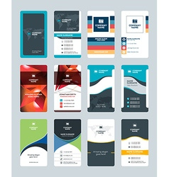 Set of Creative and Clean Vertical Business Card vector