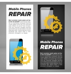 Smart phone repair banner vector image